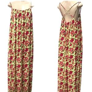 Calvin Klein Yellow Floral Maxi Dress
